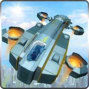 Tourist Futuristic Flying Car