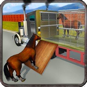Дикая лошадь транспорт грузови