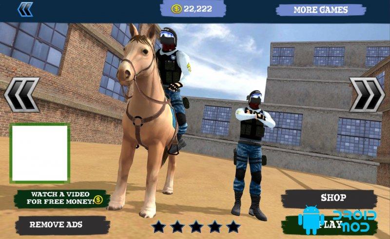 Конный полицейский конь 3D