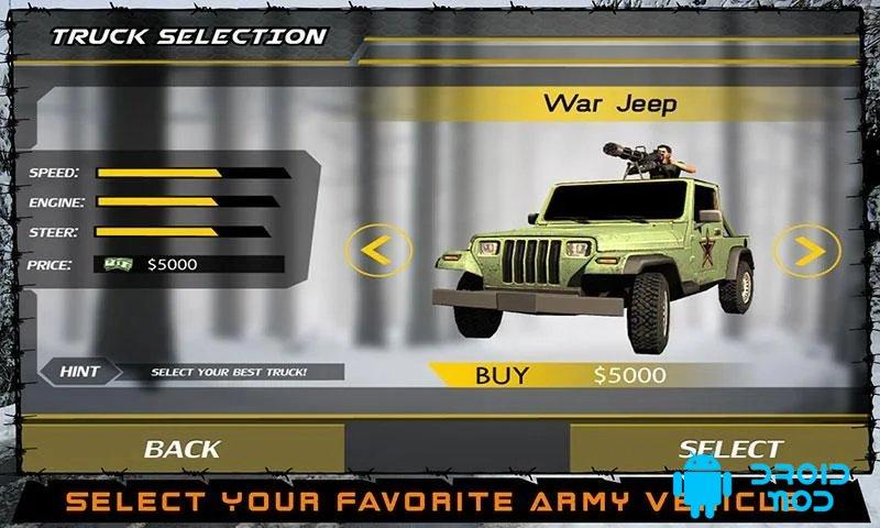 Войны армии Водитель фуры Sim