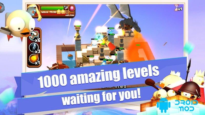 3D TD: Chicka Invasion - 3D Tower Defense!