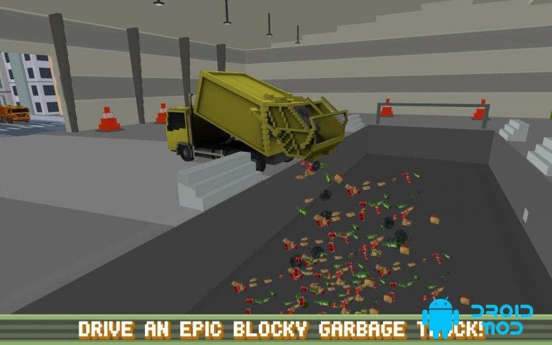 Blocky Garbage Truck SIM PRO