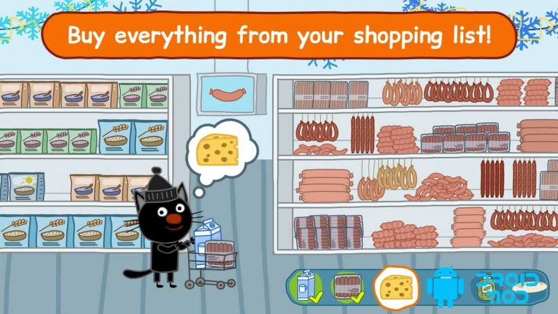 Kid-E-Cats: Grocery Store & Cash