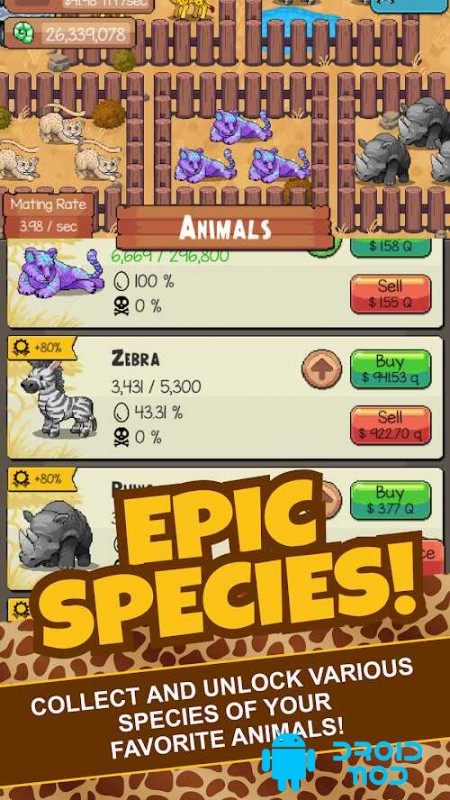 Idle Tap Zoo: Tap, Build & Upgrade a Custom Zoo