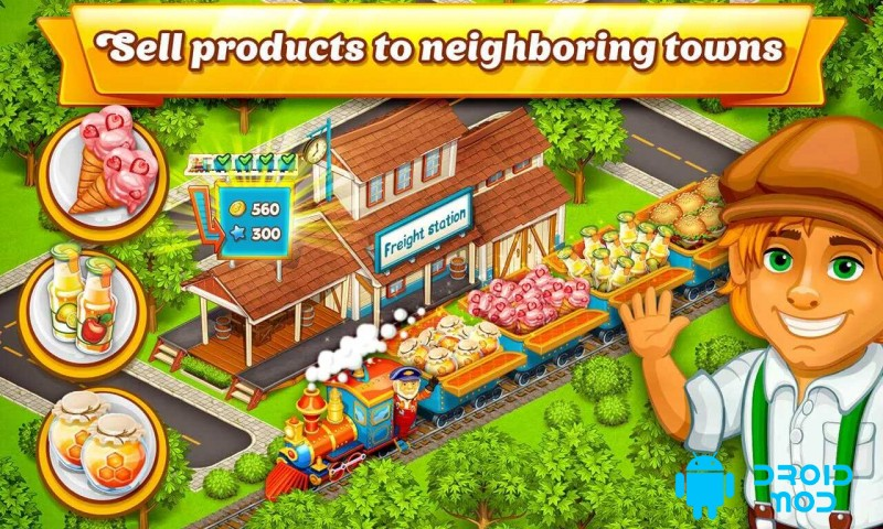 Cartoon City: farm to village. Build your home